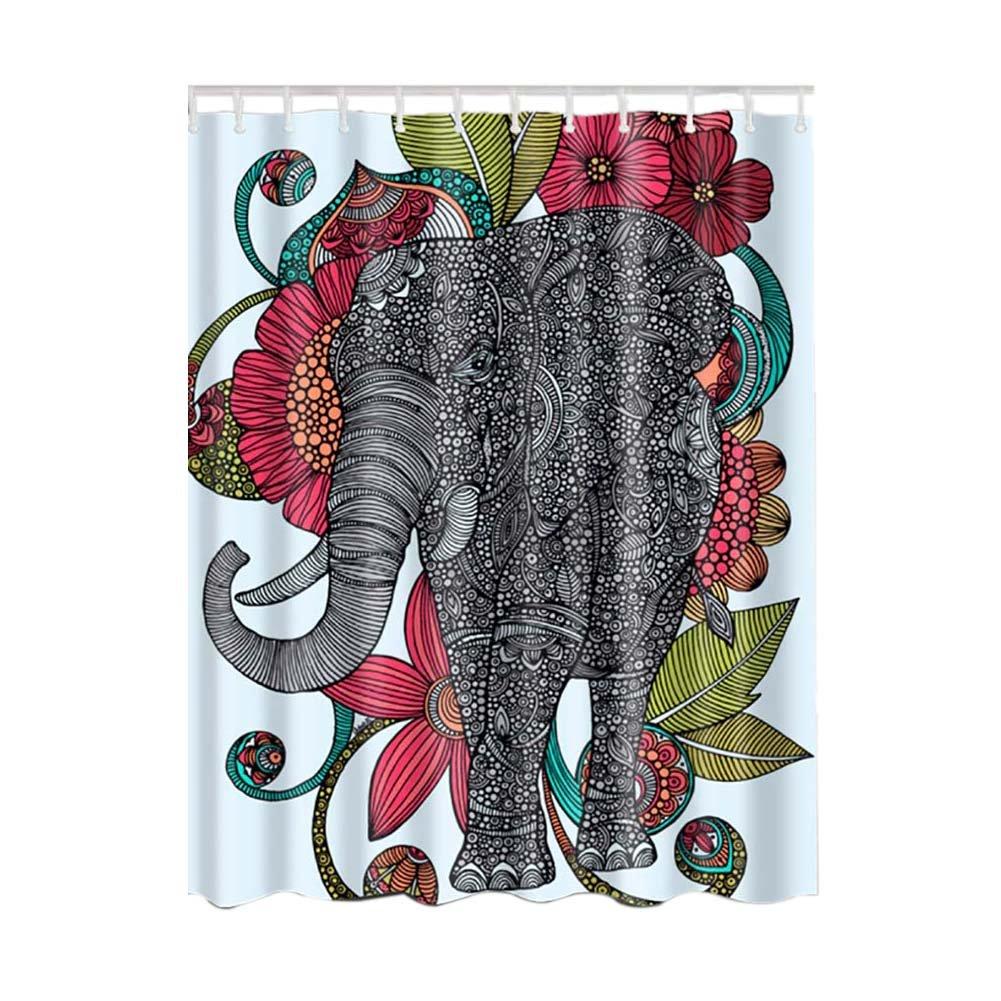 Moresave Elephant Design Pattern poliestere impermeabile del tessuto della tenda di acquazzone arredamento Bagno con ganci