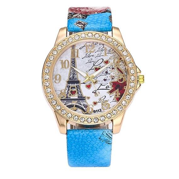 Sansee Relojes Hombre,Relojes Mujer,Correa de Cuero Casual ...