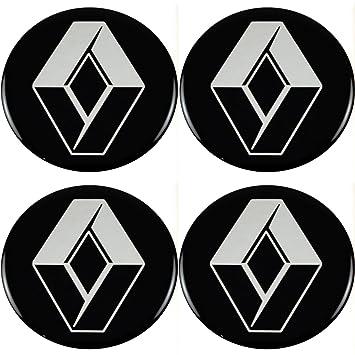 Logotipo adhesivo de Renault para tapacubos (4 unidades de 56 mm)