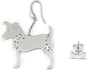JACK RUSSELL Hunde Ohrhänger 925 Sterling Silber Schmuck 046OG