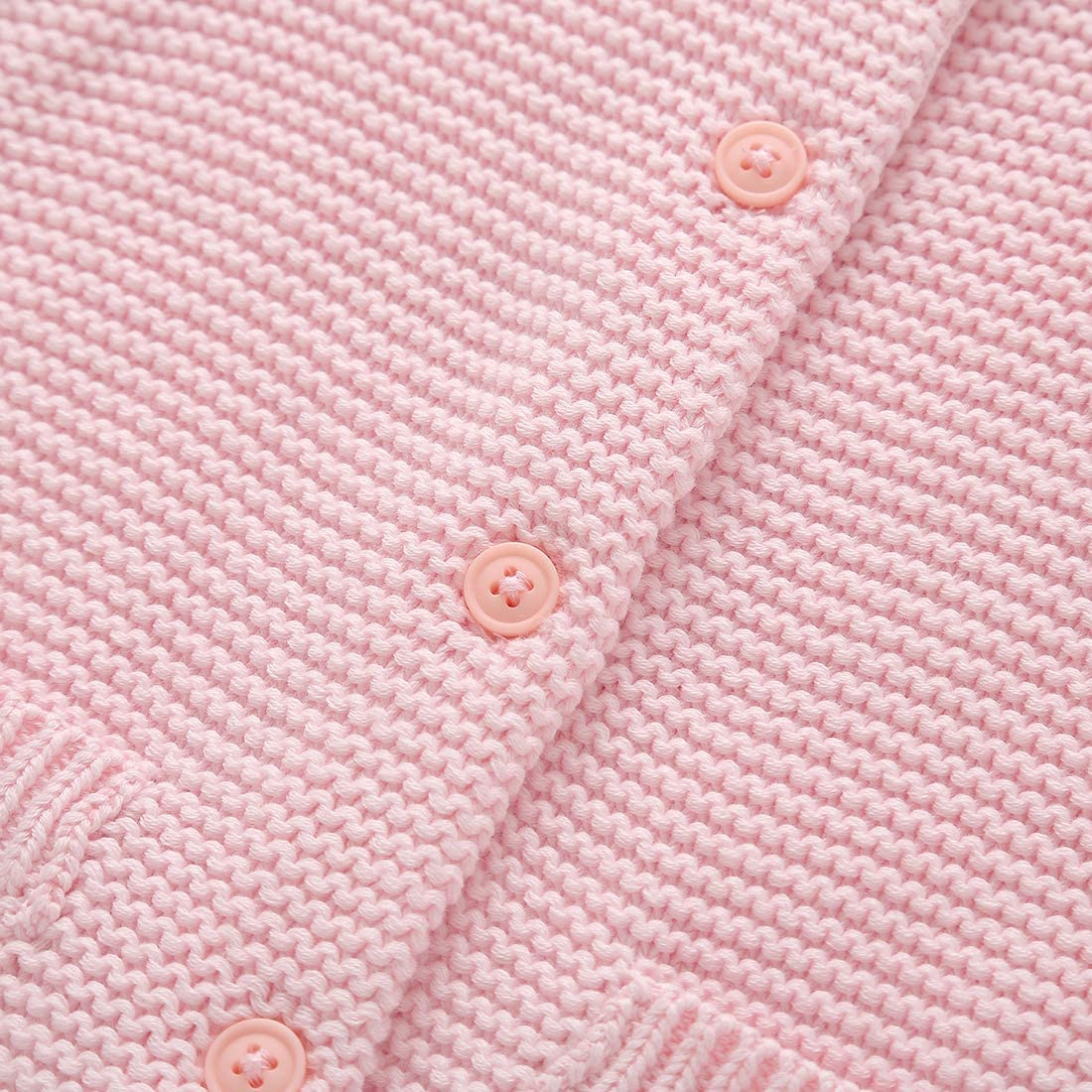 BKN Baby Girls Boys Cardigan Sweater with Decorative Pocket Button up 100/% Cotton Gift for Toddlers