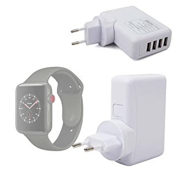 DURAGADGET Cargador De Viaje Blanco para Smartwatch Apple Watch ...