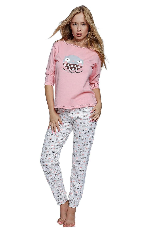 22d65e3a30 Sensis sensationeller Baumwoll-Pyjama (Made in EU) Schlafanzug Hausanzug  aus zartem Oberteil und Langer toller Hose: Amazon.de: Bekleidung