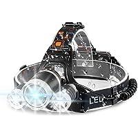 Headlamp, IKAAMA 6000 High Lumens Brightest Head Lamp, 18650 USB Rechargeable LED Work Headlight Flashlight Waterproof…