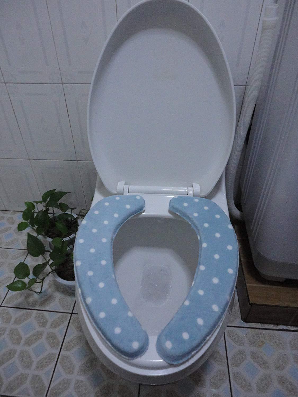 Toilet Cushion Toilet Cushion The Bathroom Toilet Mat Mat Three Piece Bathroom Mat,A