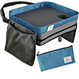 Kids Travel Tray Car Lap Desk | Portable Activity Table for Lunch and Snacks | Durable Waterproof Doubles as Carrying Bag | Fits Toddler Carseat or Booster Seat by Tranquil Traveler