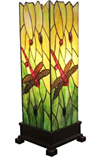 Amora Lighting Tiffany Style AM024TL05 18 Inch Dragonfly Table Lamp