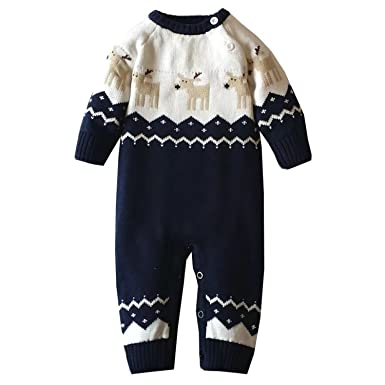 4ceee53f4 Amazon.com  Infant and Toddler Baby Boys Girls Christmas Reindeer ...