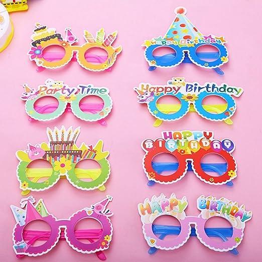 TOYANDONA Feliz cumpleaños gafas fiesta lindo papel ...