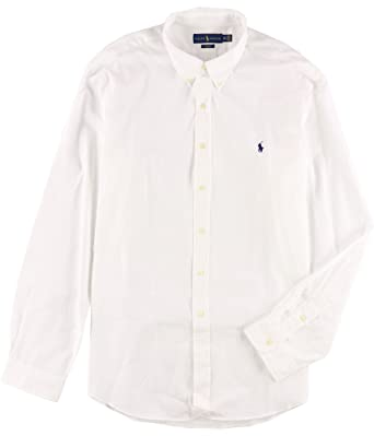 Slim Men's Sleeve Shirt Lauren Polo Ralph Stretch Fit Long Poplin PknwXN0Z8O