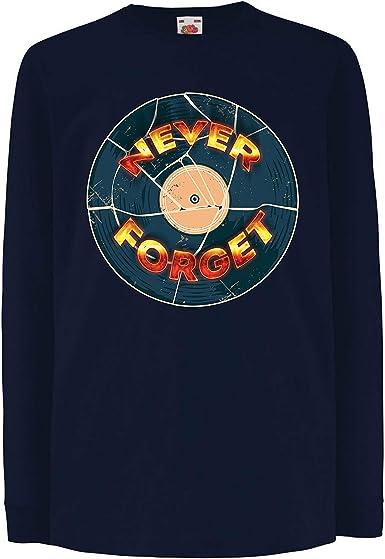 lepni.me Camiseta para Niño/Niña 60s 70s Música, Disco de gramófono, Nunca Olvides: Amazon.es: Ropa y accesorios