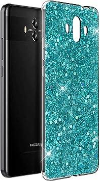 OKZone Funda Huawei Mate 10 Carcasa Purpurina, Cárcasa Brilla Glitter Brillante TPU Silicona Teléfono Smartphone Funda Móvil Case [Protección a Pantalla y Cámara] para Huawei Mate 10 (Verde): Amazon.es: Electrónica