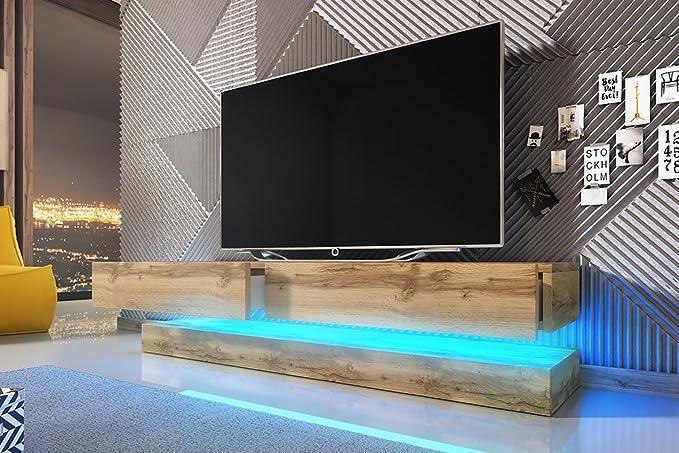 Fernsehschrank Tv Lowboard Aviator Double Holzoptik Eiche