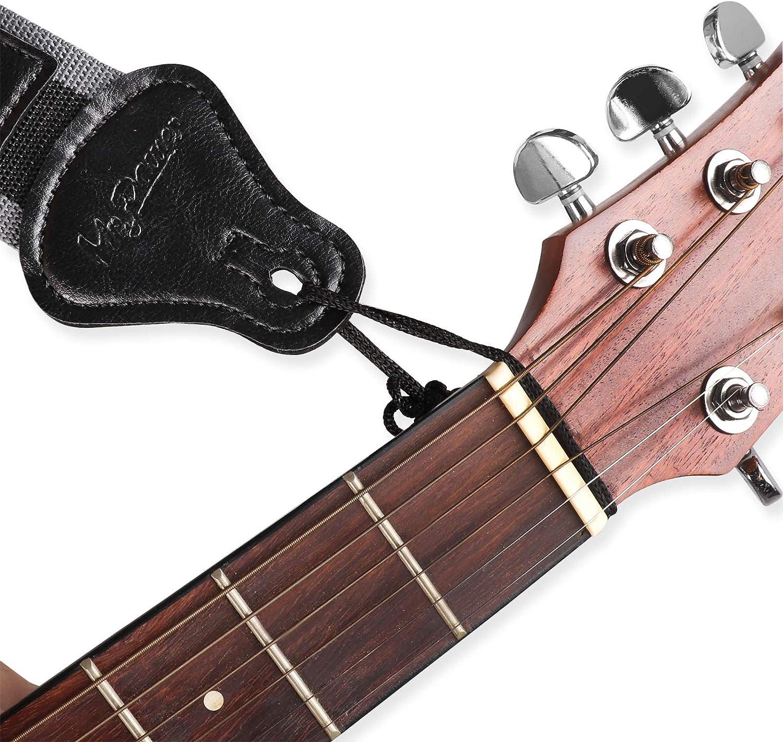 Correa de Guitarra con 3 Recoger Soportes para Eléctrico/Guitarra Acústica: Amazon.es: Instrumentos musicales