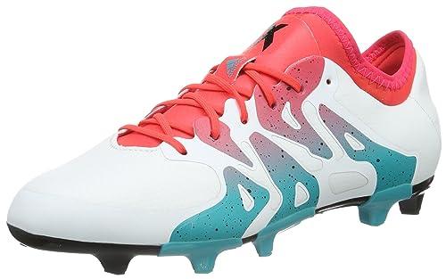 adidas X 15.1 FG/AG Mujer, W, Botas de fútbol para Mujer, FG/AG Blanco/Verde e6ddc7
