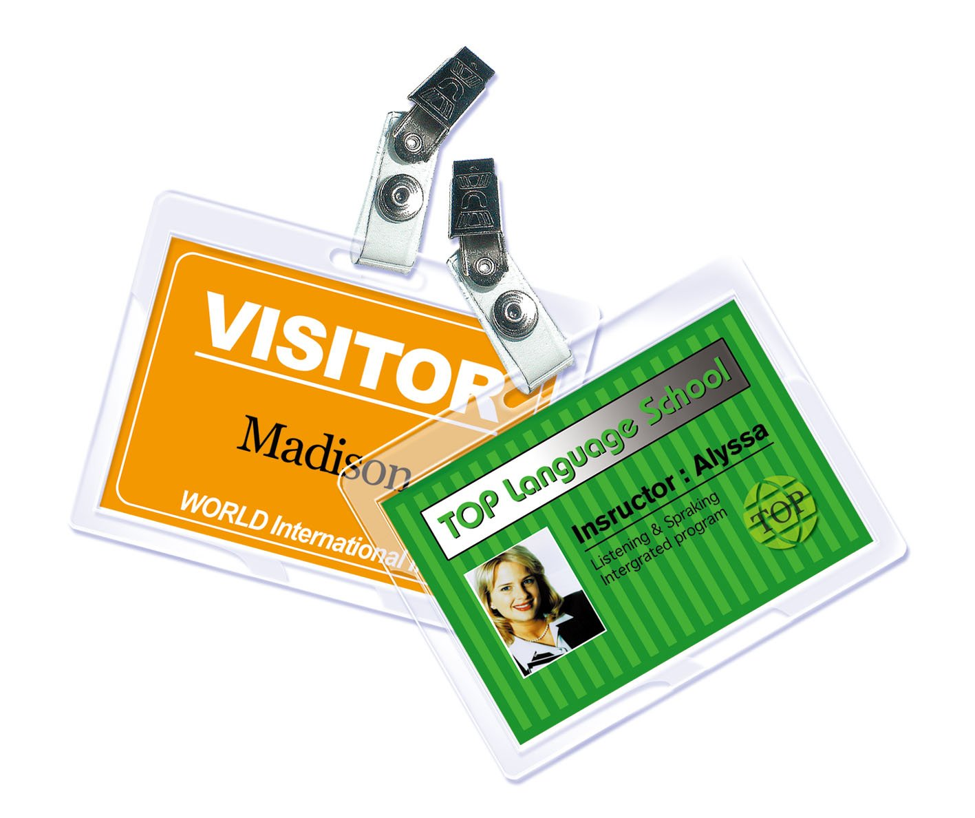 Royal Sovereign Heat Sealed Laminating Pouches 5 Mil ID Badge Size Punched with Clips Clear Gloss (25 Pack) (RF05IDPC0025) Royal Sovereign Intl. Inc. Office Equipment