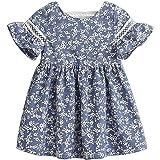Zanie Kids Baby Girl Short Sleeves Clothing Newborn Playwear Infant Cotton Cute Summer Dress
