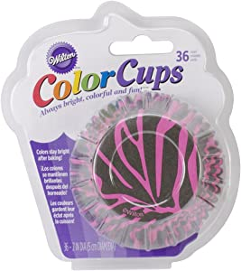 Wilton Zebra Baking Cups, Standard, Pink, 36-Pack
