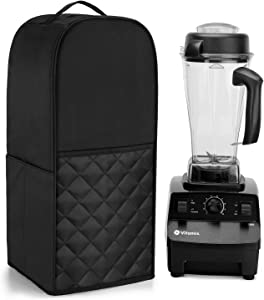 Luxja Blender Cover Compatible with Vitamix Classic 64 oz. Blender (5200, 6300 and Pro 500), Black(quilted)