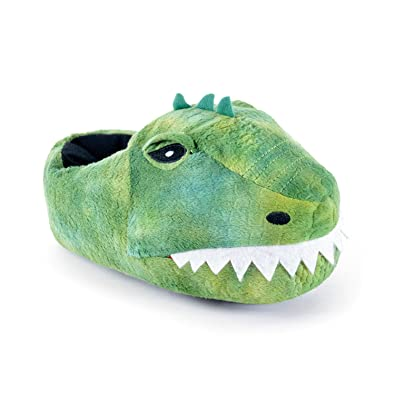 f9542d012d74 Childrens Kids Boys Novelty Dinosaur T-Rex Slippers with Teeth   Pin Dot