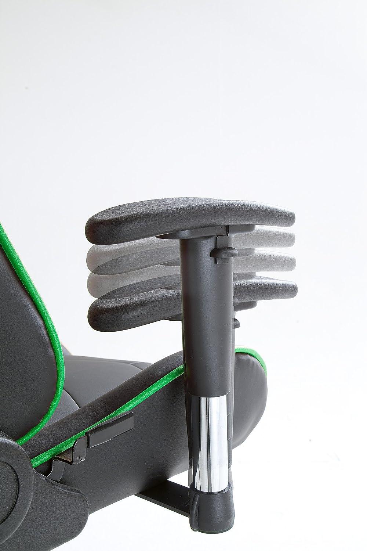 MC Racing 12 Poltrona Direzionale Finta Pelle Sedia da ufficio Nero//Arancio Sedia Gaming 62487SO3