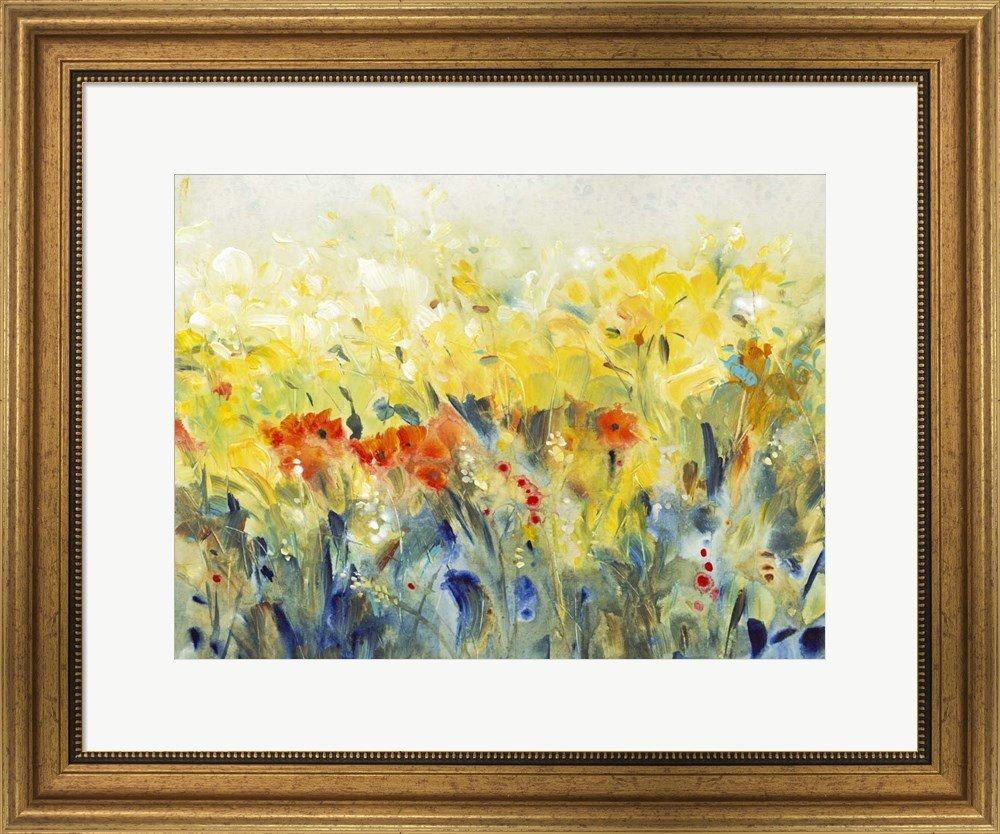 Amazon.com: Flowers Sway II by Timothy O\'Toole Framed Art Print Wall ...