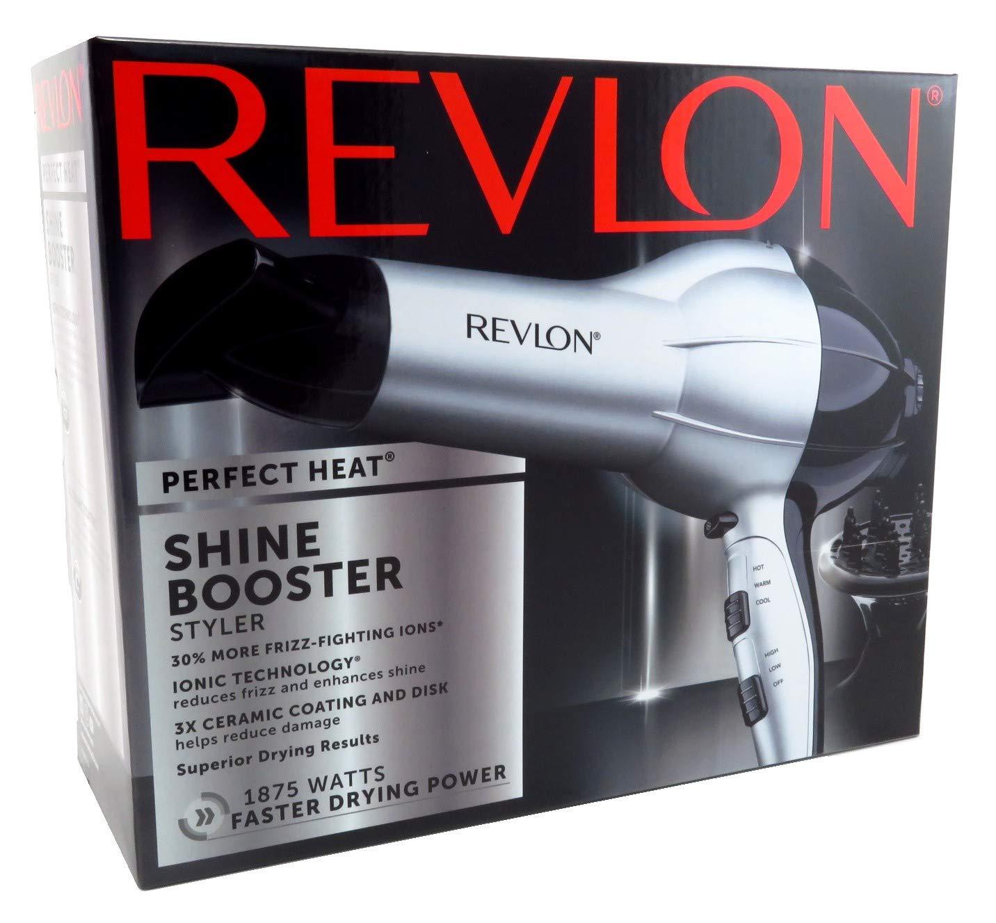 Revlon Dryer Shine Booster 1875 Watt Tourmaline With Diffusr
