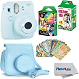 Fujifilm Instax Mini 9 Instant Film Camera (Ice Blue) - Fujifilm Instax Mini Instant Film, Twin Pack - Fujifilm Instax…