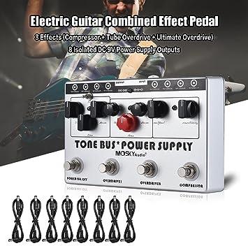 Kalaok Efectos combinados del efecto de la guitarra eléctrica 3 (Overdrive del compresor + del tubo ...