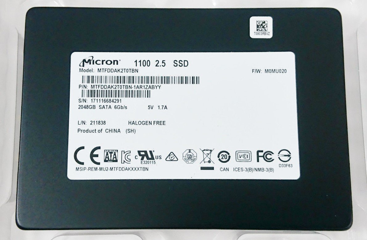 Micron 2TB Sata 2.5 inch Solid State Drive SSD for Laptop, Desktop and Servers (Fast Read/Write Speed, Reduced Power Consumption, Extended Reliability, 3D NAND Flash) in Bulk Package