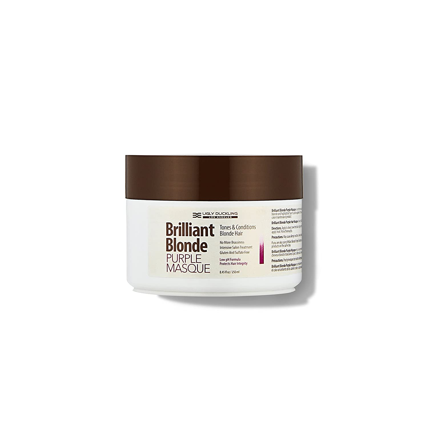 Discount Brilliant Blonde Purple Mask 8.4 oz (250 ml). Tones & Conditions Blonde Hair. Low pH Formula, Sulfate Free, Gluten Free supplier