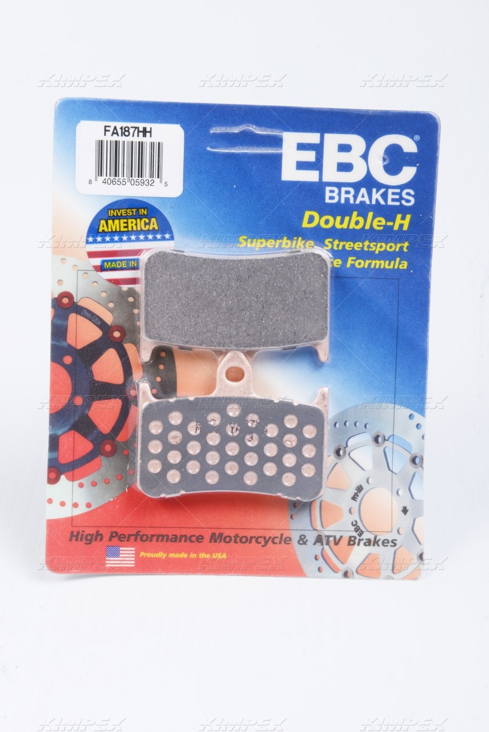 Auto Parts and Vehicles Honda CB 900 Hornet 02-07 EBC Organic Front Brake Pads Other Motorcycle Parts FA187