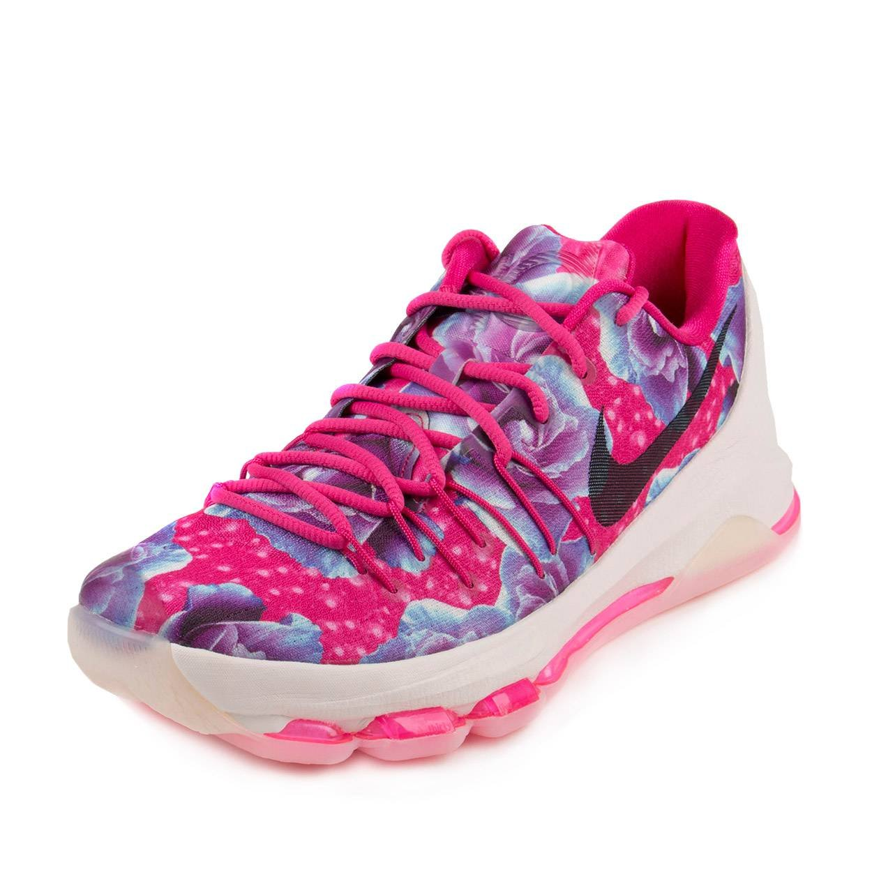 low priced 6e106 dbe83 Nike Mens KD 8 PRM Aunt Pearl Vivid Pink/Black-Phantom Synthetic Size 10.5