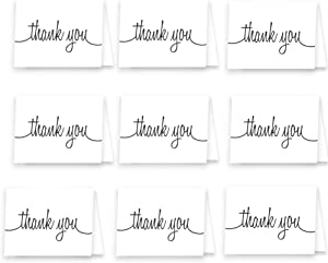 Sweepstakes: Small Folded Thank You Note Cards 25 Pack - Envelopes Included...