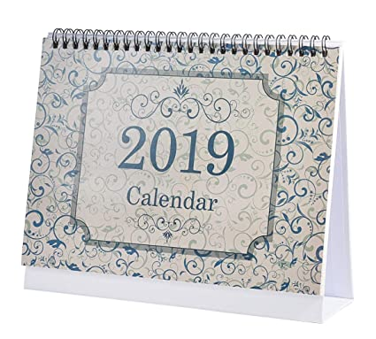 Amazon Com 2019 Desk Monthly Calendar With Stand January To