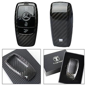 Amazon luxury carbon fiber protective hard key case cover for luxury carbon fiber protective hard key case cover for 2017 2018 mercedes benz w213 e sciox Images