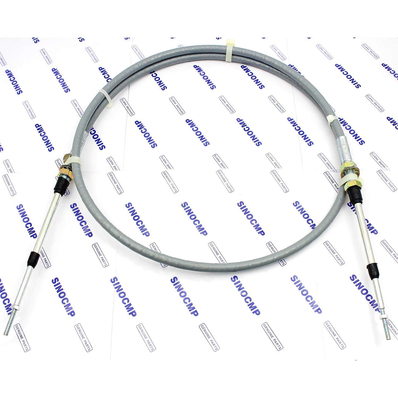 3 Month Warranty 362-43-34150 Fuel Control Cable SINOCMP Motor Cable for Komatsu D41P-6 D41E-6 Tractor Bulldozer Crawler Spare Parts