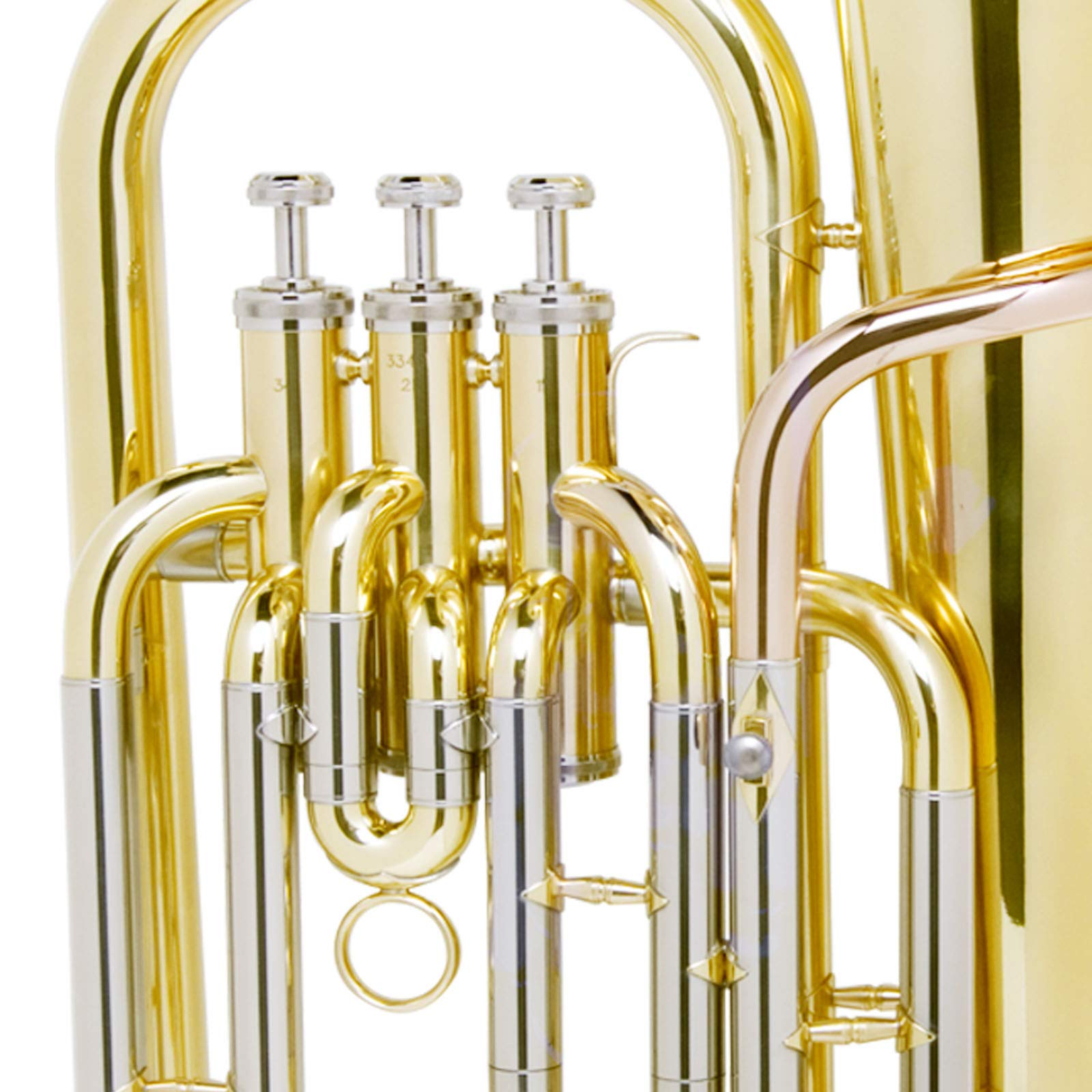 Mendini B Flat Baritone with Stainless Steel Pistons (Intermediate) by Mendini by Cecilio (Image #6)