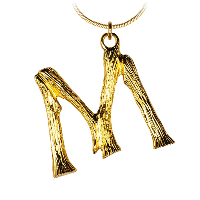 28b75f794536 Amazon.com  ANAKIKI 26 Initial Letters Alphabet Charm Bamboo Pendant  Necklace 18k Gold Plated Snake Chain Personalized Gifts for Women  Clothing