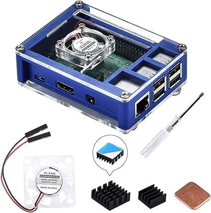 GeeekPi Raspberry Pi 3 B + Caja, Raspberry Pi Caja con Ventilador ...