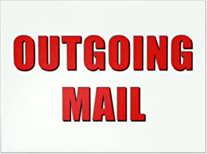 Outgoing Mail Magnet - 3x4 Inch Mailbox Notification Magnets