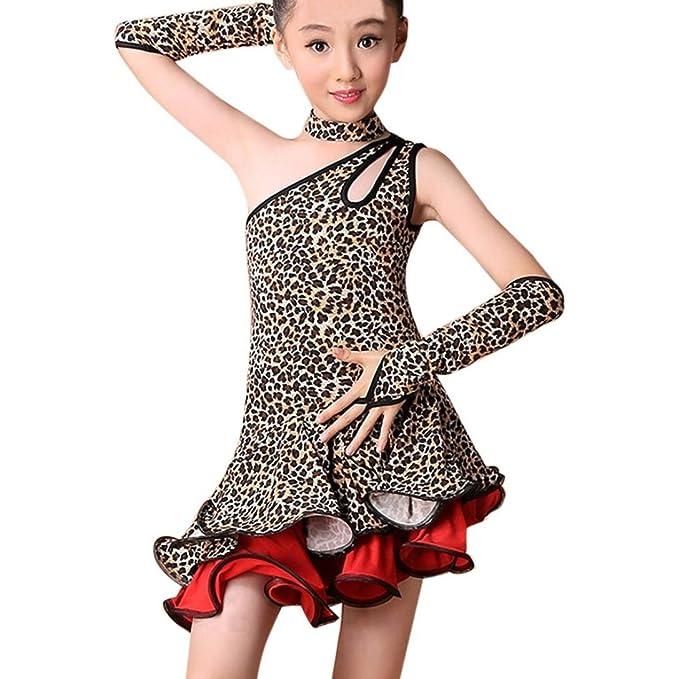 Euone® Kids Girls Latin Ballet Dress For Party Dancewear Ballroom ...