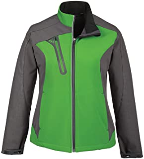 Raspb... XXL Terrain Ladies Color-Block Soft Shell Jacket With Embossed Print