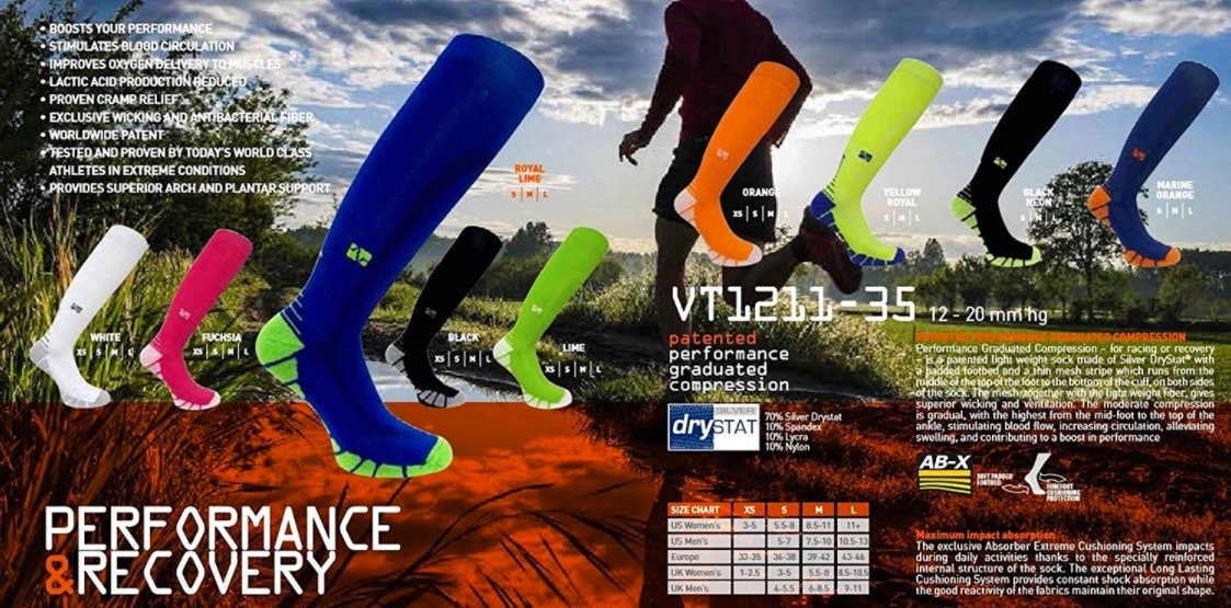 Vitalsox Italy-Patented Compression VT1211,X-Small,Lime Green by Vitalsox (Image #10)