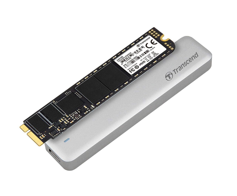 Transcend TS480GJDM500 JetDrive 500 SSD per MacBook Air L10-M11 SATA III Kit con Case Esterno USB 3.0 480 GB Custodia e Cacciavite