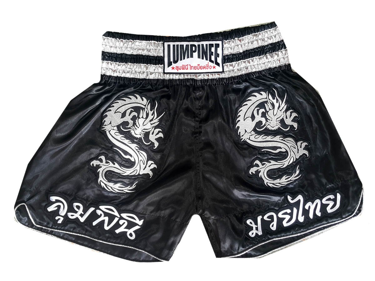 Lumpinee Muay Thai Kick Boxing Shorts : lum-038 LUM-038-黒 XX-Large