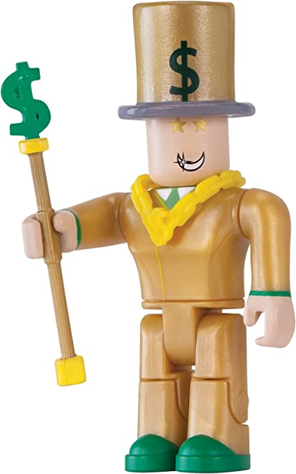 Amazon Com Roblox Action Collection Mr Bling Bling Figure Pack Includes Exclusive Virtual Item Toys Games