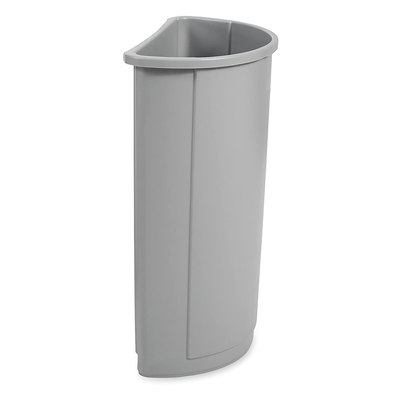 Rubbermaid Commercial Untouchable Trash Can, 21 Gallon, Gray, FG352000GRAY
