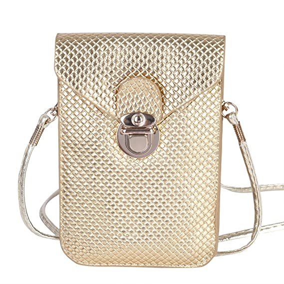 7b0f5588fd28fa Image Unavailable. Image not available for. Color: Bosam PU Cell Phone  Purses Bag with Strap ...