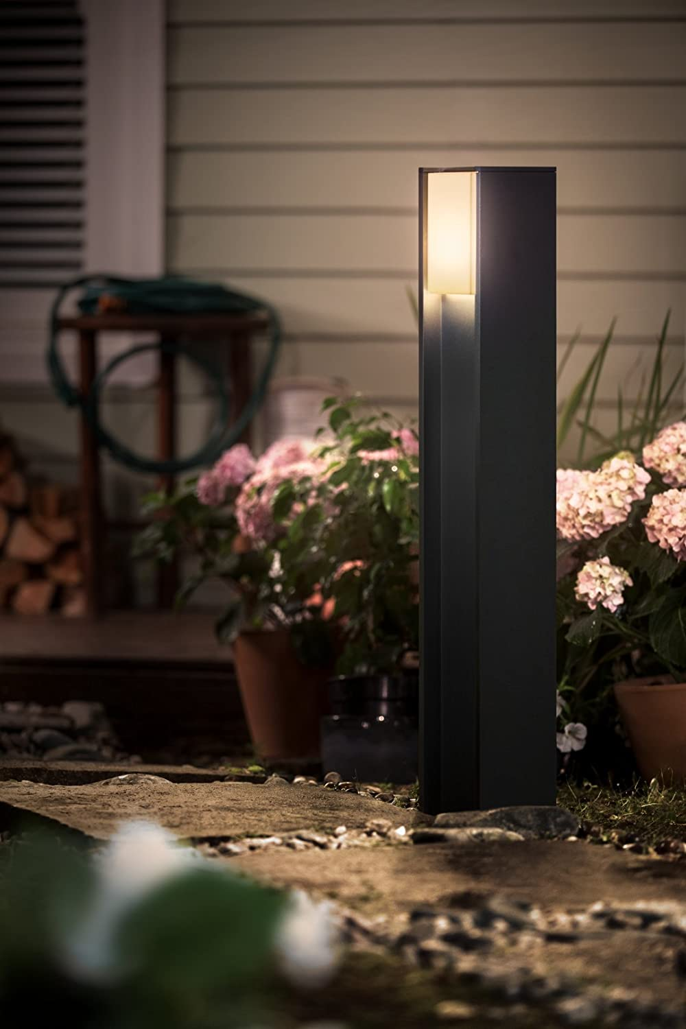 Philips Hue Turaco - Poste LED para exterior, color negro ...